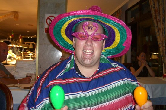 SENTIDO Don Pedro: Tom - Entertainment team member on the Mexican theme night