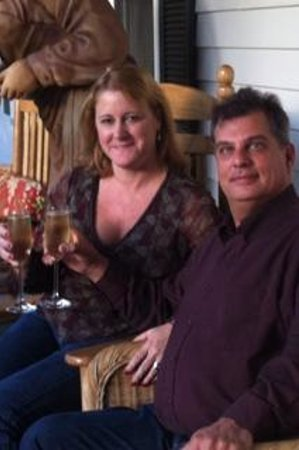 1862 Seasons On Main B&B : Me and my honey celebrating our 1 year anniversary on the beautiful porch!!
