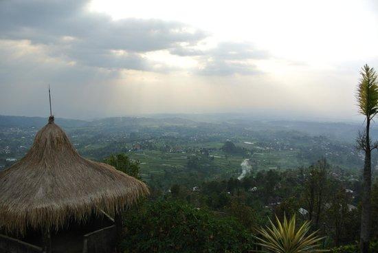 Sukuh Cottage: Het uitzicht vanaf het balkon