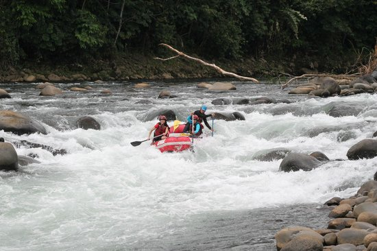 Sarapiqui River: Picture gives you an idea what you have to raft through