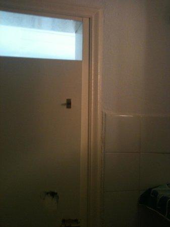 """To Spiti Tis Irinis : The door of """"the bathroom"""""""