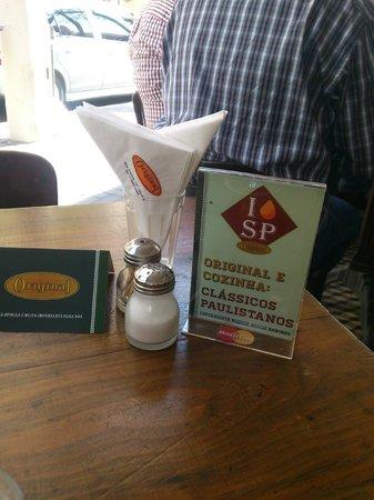 Bar Original - O melhor Chopp Tradicional : Na mesa