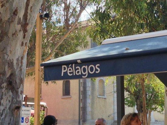 terrace setting at Le Pelagos