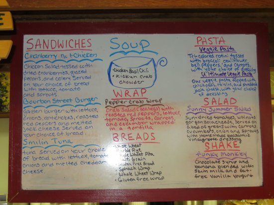 Nature's Way Cafe: All the fresh specials of the day