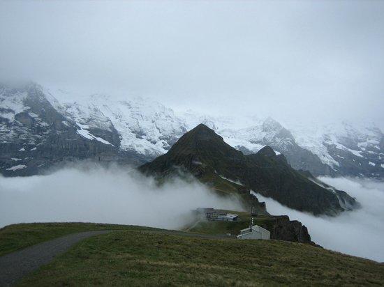 Grindelwald, Suiza: Männlichen in the fog