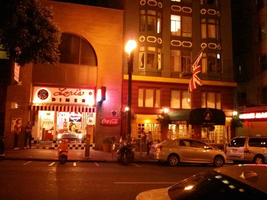 King George Hotel and Lori's 50s Diner on Mason St