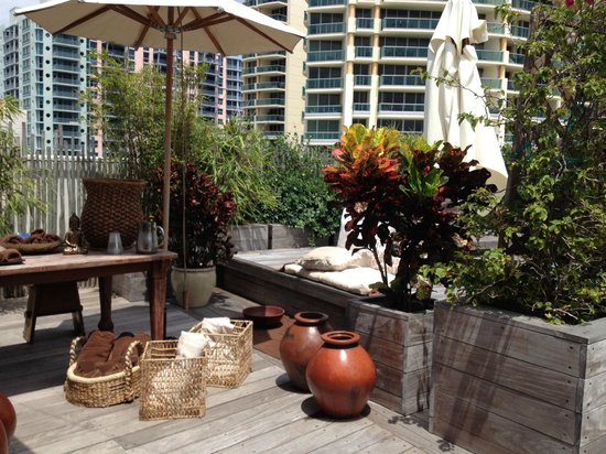 The Betsy - South Beach : Terraza zona del Spa