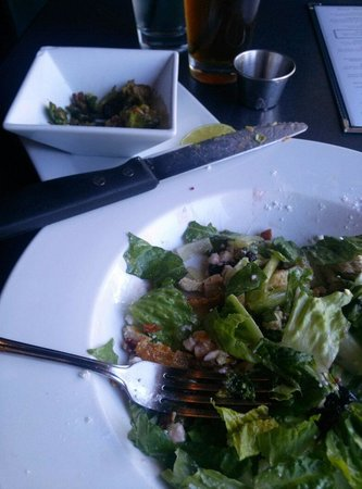 Diamonds Steak and Seafood: Crispy Brussel sprouts. With Grand Traverse Chicken Salad