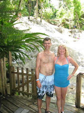 Dunn's River Falls and Park: One of the entrance/exit points along the falls