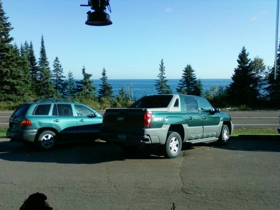 Cascade Lodge Restaurant: View from our table- Lake Superior on Hwy. 61