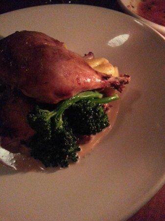 Brasserie L'ecole: Chicken legs with dumplings and chanterelles.