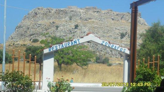Zografos Restaurant: View of Feraklos castle from Zografos