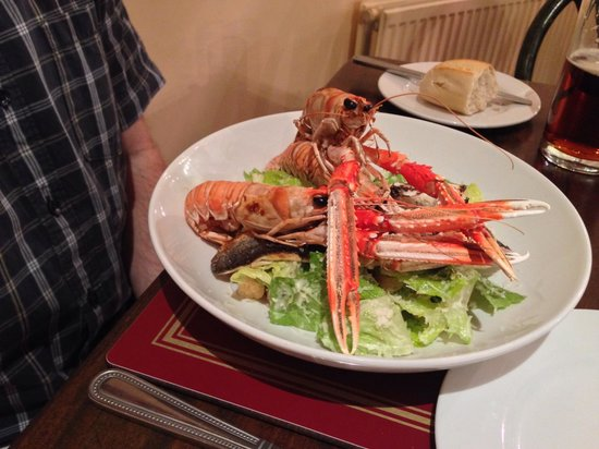 Cargill's Restaurant & Bistro : Sea bass with langoustines