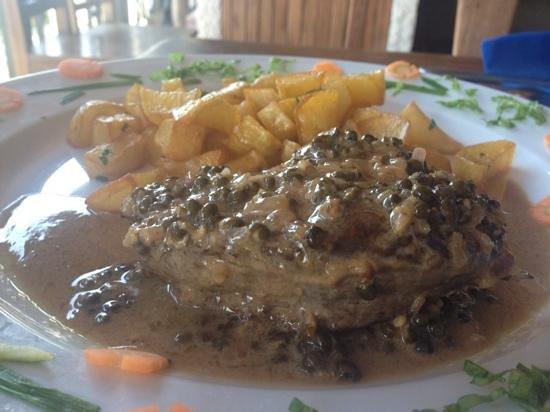 Restaurant de la Mer : Filet de zébu sauce poivre vert