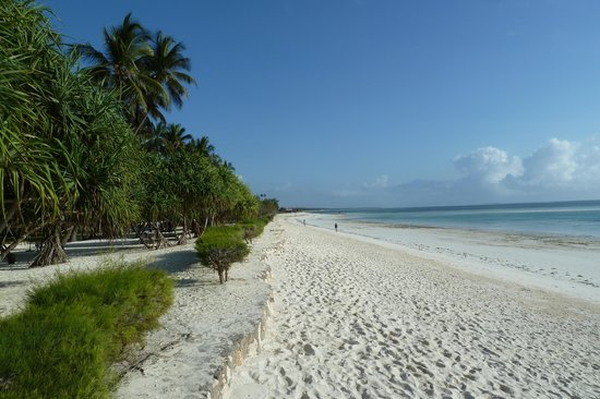 Neptune Pwani Beach Resort & Spa : Très grande plage de sable blanc