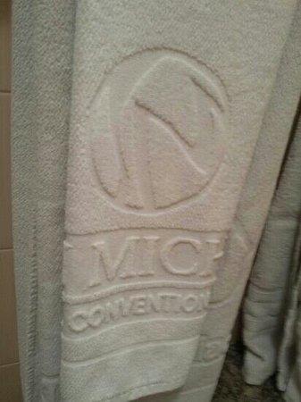 San Michel Palace Hotel: toalhas limpas apesar de mt velhas e finas.