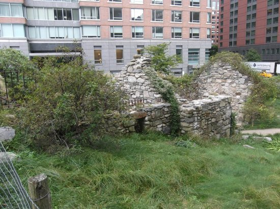 Irish Hunger Memorial: The reconstructed ruined cottage