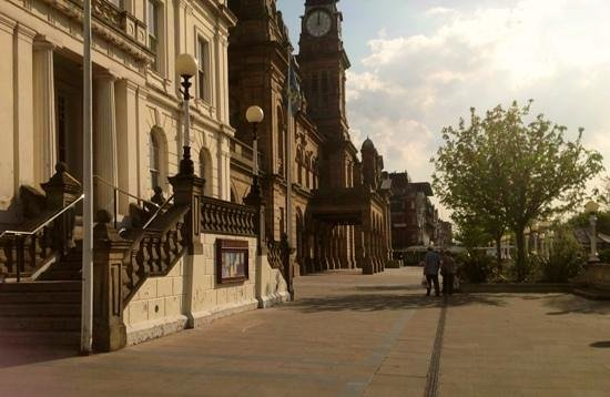 A lovely view of the beautifully restored buildings of The Atkinson Complex from The Town Hall