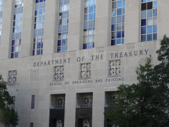 Bureau of Engraving and Printing: Out front