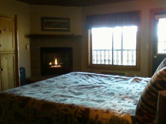 Eagle Ridge at Lutsen Mountain: fireplace