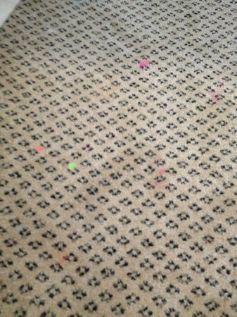 Holiday Inn Richmond South-Bells Road: Stain on carpet in room