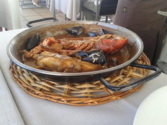 Restaurante Miramar: Rape y bogabante salsa americana