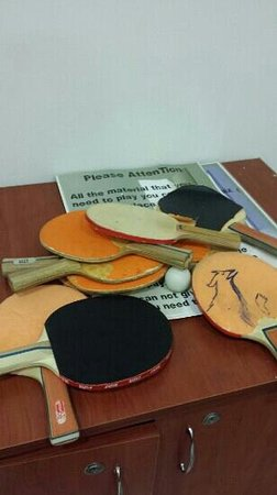 Grand Belish Hotel: table tennis equipment in a 5 star hotel