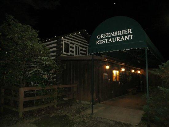 Greenbrier Restaurant : Greenbrier at night