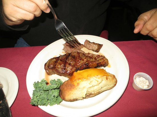 Greenbrier Restaurant : NY Strip with twice baked potato
