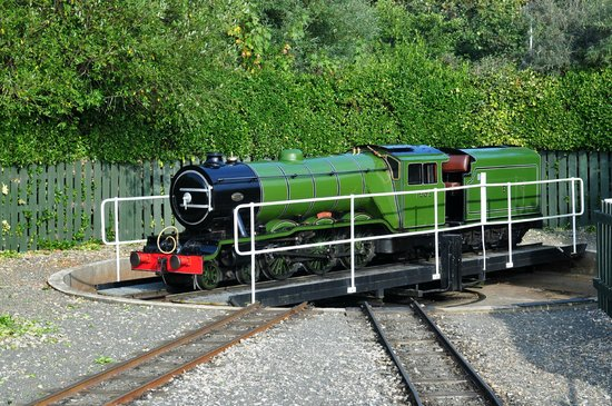 North Bay Railway: The loco being turned round