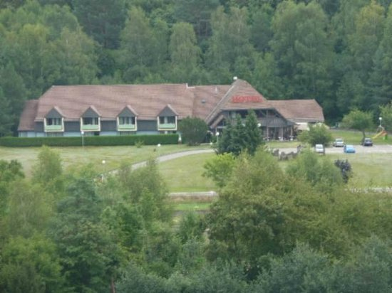 Le Relais des Chateaux Forts : View of the hotel from the fortress in Bitche