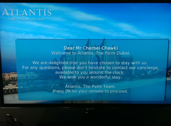 Atlantis, The Palm: Warm welcoming!