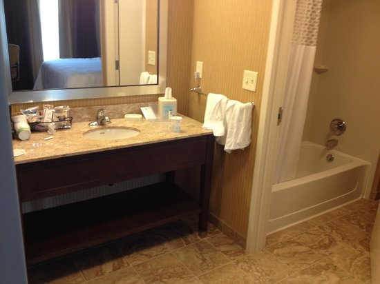 Hampton Inn & Suites Rochester / Henrietta: Sink area - King Suite with Sofa Bed