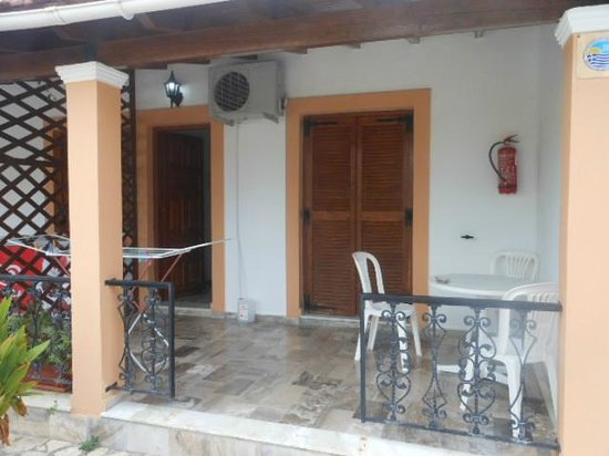 Takis Apartments: Our apartment's balcony