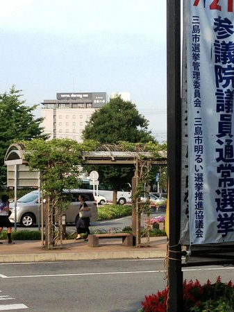Dormy Inn Mishima: Dormy Inn from bus/train terminal
