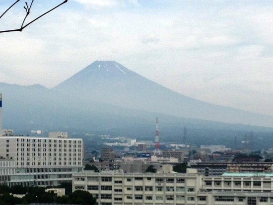Dormy Inn Mishima: Mt Fuij from spa on top floor