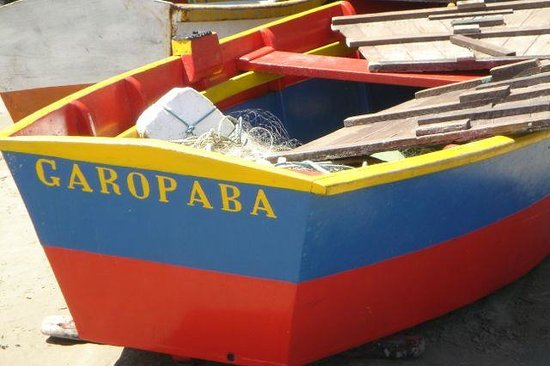 Garopaba Beach: Fisher boat named after the city