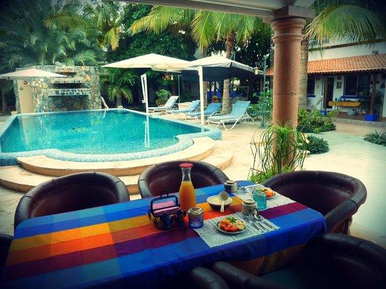 Hacienda Paraiso de La Paz Bed and Breakfast/Inn: Afuerita de la recamara