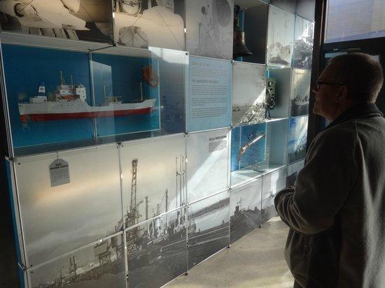 Coaltown Museum: A visitor admires an exhibit