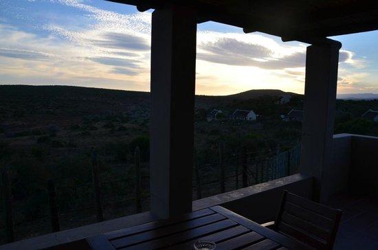 Addo Rest Camp: Tramonto con vista