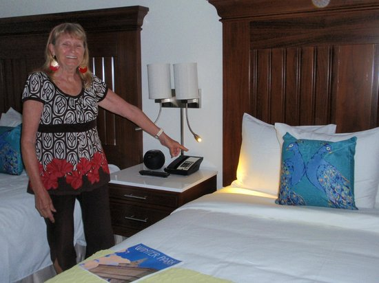 The Alfond Inn: Love the flexible reading light by the bed!
