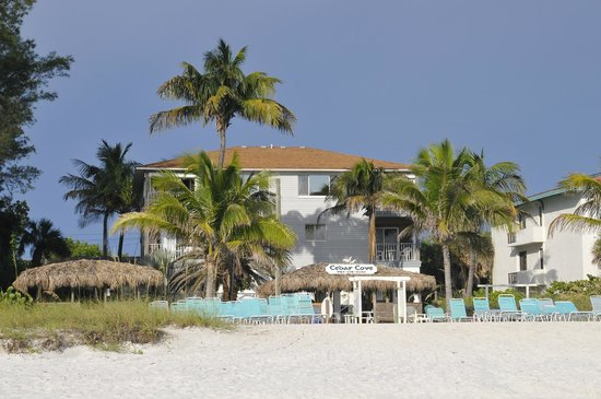 Cedar Cove Resort & Cottages: resort view from the beach