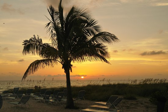 Cedar Cove Resort & Cottages: sunset from the resort beach