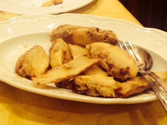 La Galleria: funghi porcini fritti