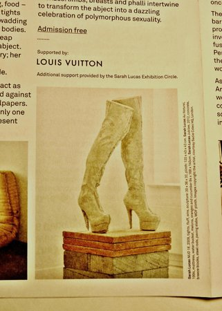 Sarah Lucas - on Whitechapel gallery brochure