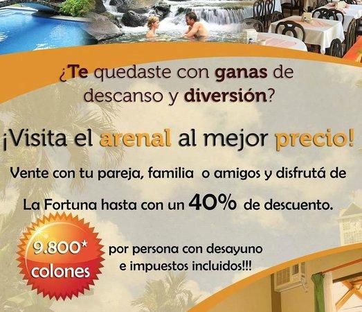 Hotel Arenal Bromelias: Super oferta, mes de octubre.