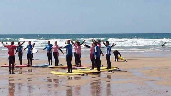 Fistral Beach Surf School: Prep time