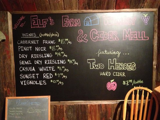 Elfs Farm Winery & Cider House: Elfs Farm Wine & Cider Tasting