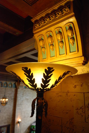 Downtown Bozeman : Charming light fixture in the Baxter Hotel
