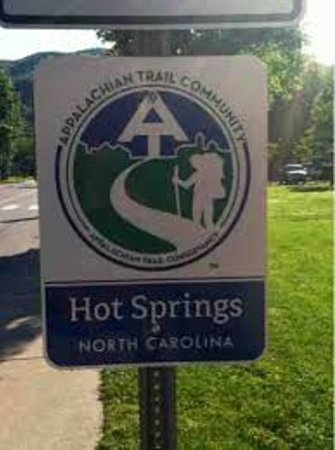 Broadwing Farm Cabins: The Appalachian Trail is the main street (Bridge St.) in Downtown Hot Springs